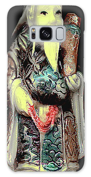 Antique Chinese Figurine - Man With Scroll Galaxy Case