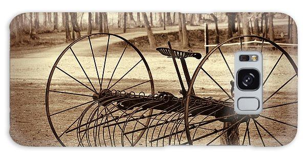 Antique Farm Rake In Sepia Galaxy Case