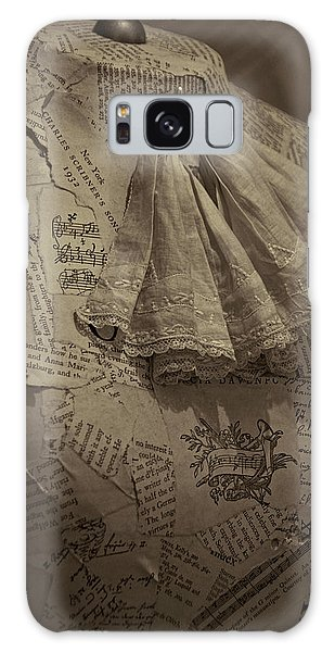 Paper Dress Galaxy Case - Antique Mannequin With Collage Of Vintage Papers by Mitch Spence
