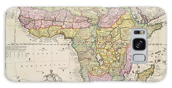 Antique Map Of Africa Galaxy Case