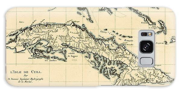 Engraving Galaxy Case - Antique Map Of Cuba by Guillaume Raynal