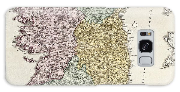 Vintage Galaxy Case - Antique Map Of Ireland Showing The Provinces by Johann Baptist Homann