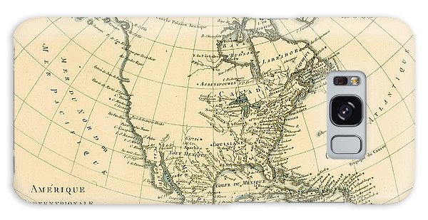 Mexican Galaxy Case - Antique Map Of North America by Guillaume Raynal