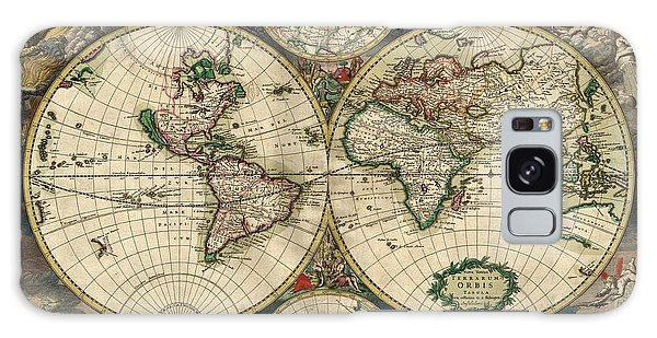 Antique Map Of The World - 1689 Galaxy Case