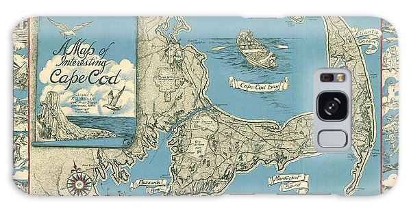Bay Galaxy Case - Antique Maps - Old Cartographic Maps - Antique Map Of Cape Cod, Massachusetts, 1945 by Studio Grafiikka