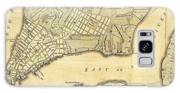 Antique Maps - Old Cartographic Maps - City Of New York And Its Environs Galaxy Case