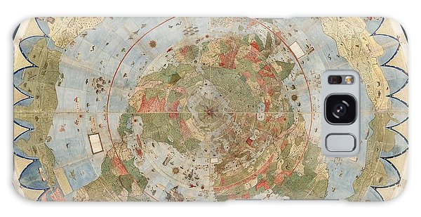 Antique Maps - Old Cartographic Maps - Flat Earth Map - Map Of The World Galaxy Case