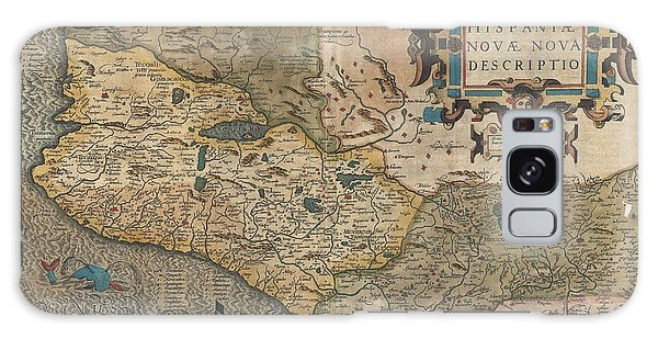Mexican Galaxy Case - Antique Maps - Old Cartographic Maps - Hondius And Mercator Map Of Mexico, 1606 by Studio Grafiikka