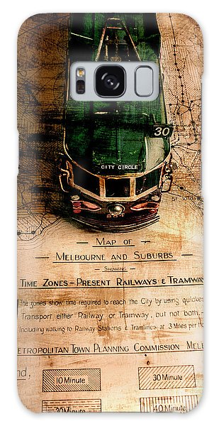 Victoria Galaxy Case - Antique Melbourne Travel Map by Jorgo Photography - Wall Art Gallery