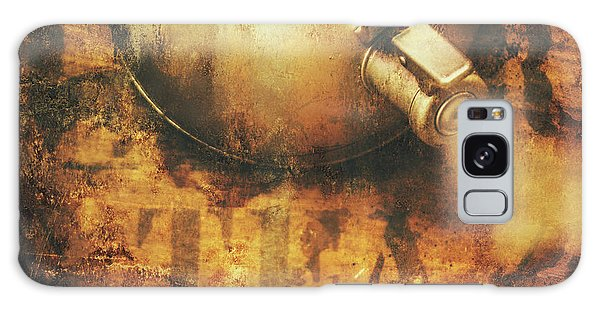 Cafe Galaxy Case - Antique Old Tea Metal Sign. Rusted Drinks Artwork by Jorgo Photography - Wall Art Gallery