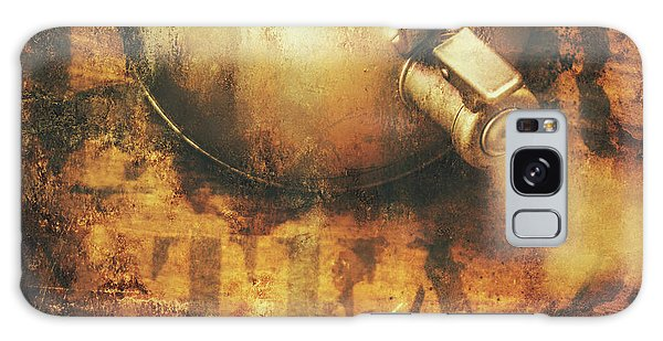 Antique Old Tea Metal Sign. Rusted Drinks Artwork Galaxy Case