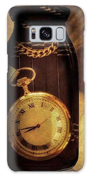 Antique Pocket Watch In A Bottle Galaxy Case by Susan Candelario