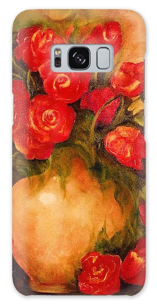Antique Red Roses Galaxy Case