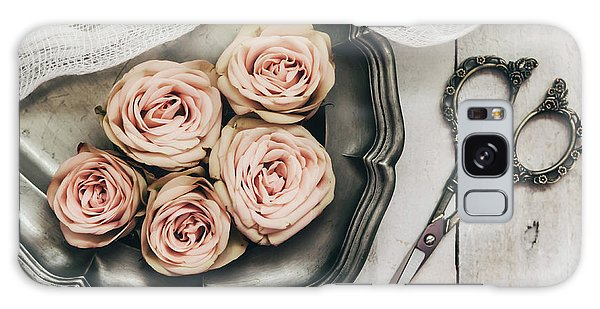 Galaxy Case featuring the photograph Antiqued Roses by Kim Hojnacki