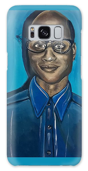 Black Man Cartoon Art, Nerd Guy With Glasses, Painting Galaxy Case