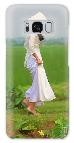 Ao Dai Woman Vietnamese Woman Galaxy Case