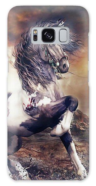 Native American Galaxy Case - Apache War Horse by Shanina Conway