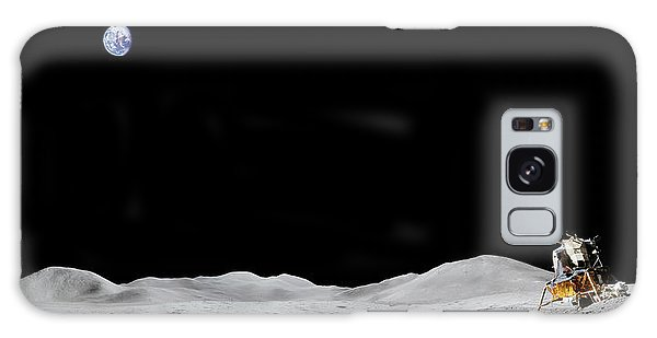 Apollo 15 Landing Site Panorama Galaxy Case