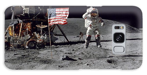 1972 Galaxy Case - Apollo 16 Astronaut Leaps by Stocktrek Images