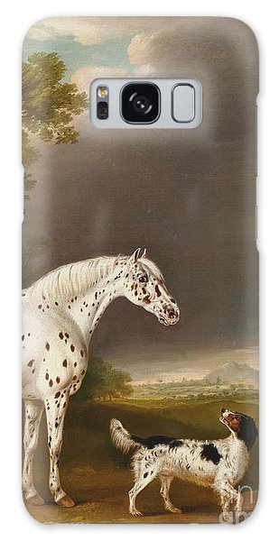 Mottled Galaxy Case - Appaloosa Horse And Spaniel by Thomas Weaver
