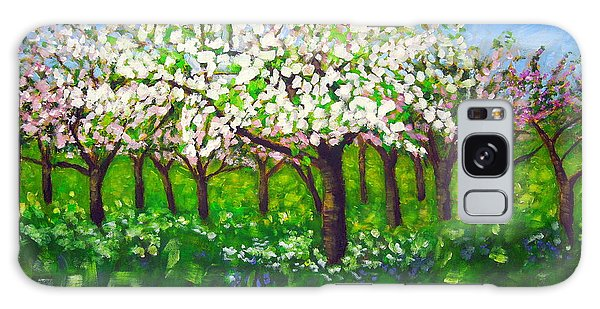 Apple Blossom Orchard Galaxy Case