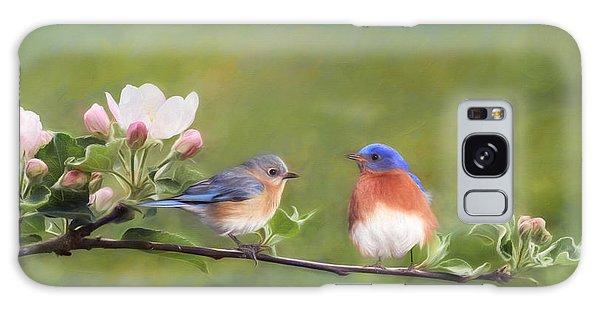 Bluebird Galaxy S8 Case - Apple Blossoms And Bluebirds by Lori Deiter