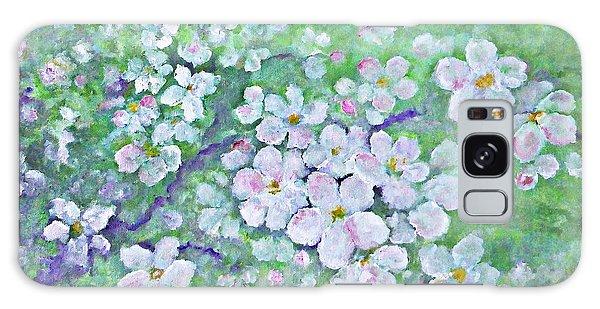 Apple Tree Flowers Galaxy Case by AmaS Art