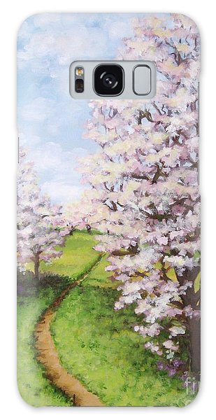 Apple Trees Along The Path Galaxy Case