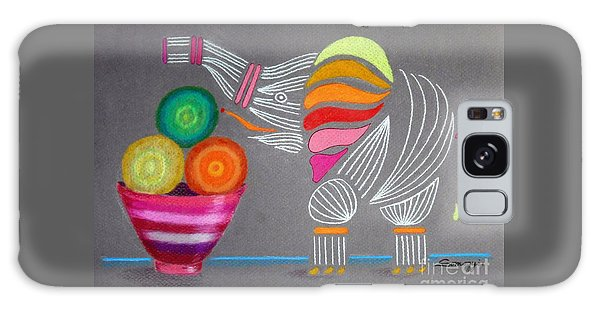 Apples And Oranges And Elephants, Oh My -- Whimsical Still Life W/ Elephant Galaxy Case