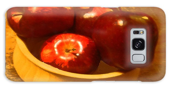 Apples In A Bowl Galaxy Case by Walter Chamberlain
