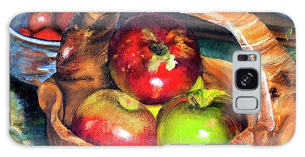 Apples In A Burled Bowl Galaxy Case
