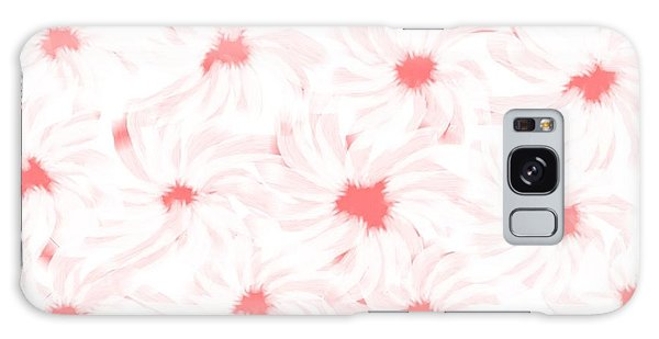 'apricot And White Flower Abstract 2' Galaxy Case