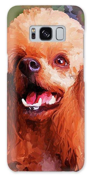 Apricot Poodle Galaxy Case