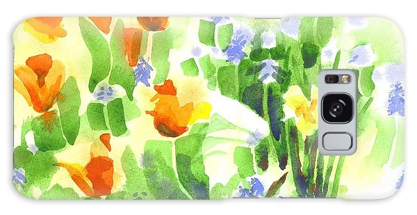 April Flowers 2 Galaxy Case by Kip DeVore