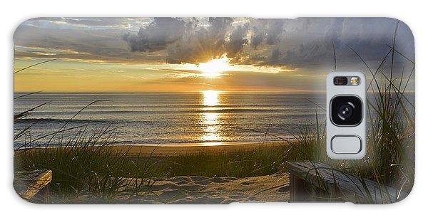 April Sunrise In Nags Head Galaxy Case