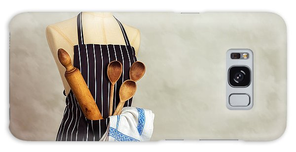 Dress Form Galaxy Case - Apron And Baking Utensils by Amanda Elwell