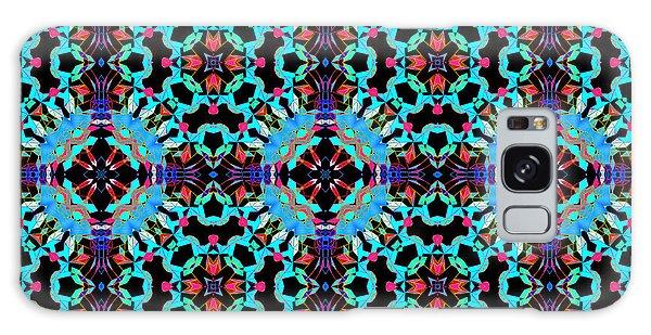 Aqua Geometric Mandala Galaxy Case