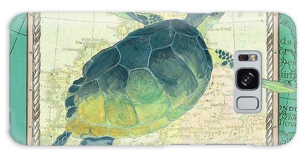 Galaxy Case - Aqua Maritime Sea Turtle by Debbie DeWitt