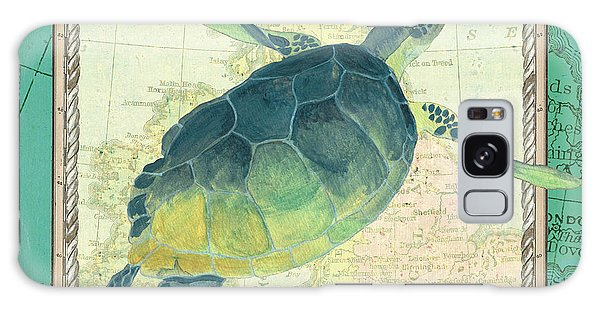 Turtle Galaxy Case - Aqua Maritime Sea Turtle by Debbie DeWitt