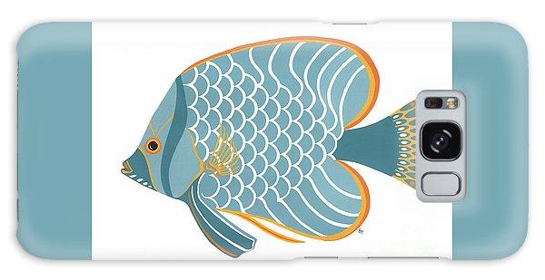 Aqua Mid Century Fish Galaxy Case