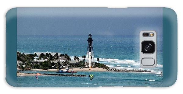 Aqua Water At Hillsboro Lighthouse In Florida Galaxy Case