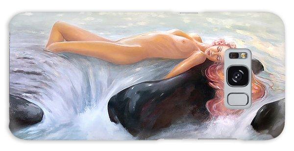 Aquamarine Sea Goddess Galaxy Case