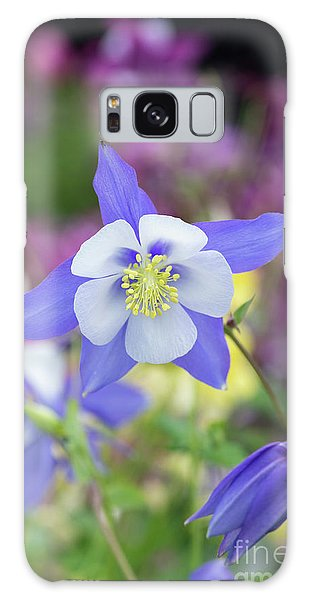 Aquilegia Galaxy Case - Aquilegia Swan Blue by Tim Gainey