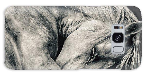 Arabian Beauty White Horse Portrait Galaxy Case