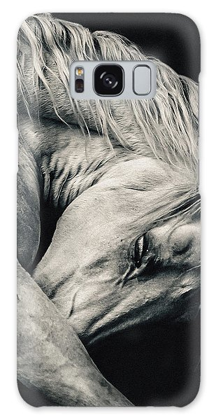 Arabian Beauty White Horse Portrait Galaxy Case