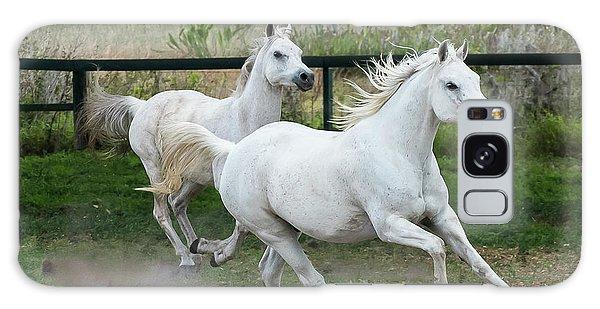 Arabian Horses Running Galaxy Case