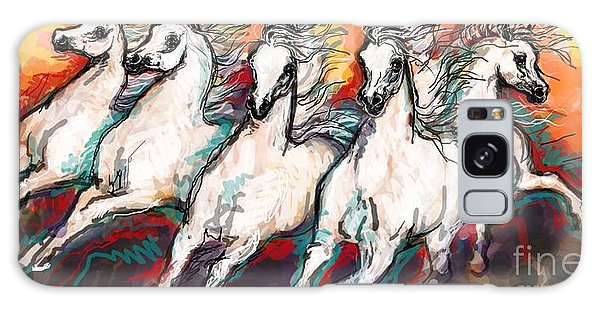 Arabian Sunset Horses Galaxy Case by Stacey Mayer