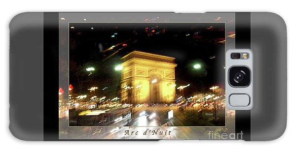 Arc De Triomphe By Bus Tour Greeting Card Poster V1 Galaxy Case