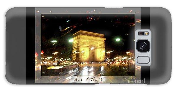 Arc De Triomphe By Bus Tour Greeting Card Poster V1 Galaxy Case by Felipe Adan Lerma