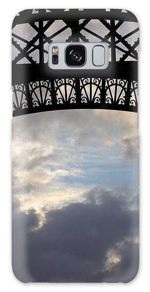 Arch At The Eiffel Tower Galaxy Case by Heidi Hermes